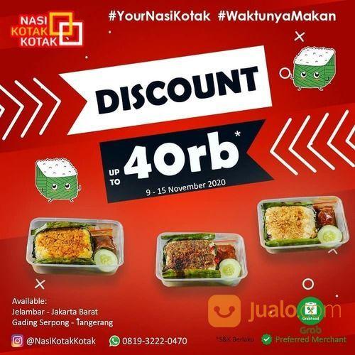 Nasi Kotak Kotak PROMO di aplikasi Grabfood DISKON up to 40rb (28952317) di Kota Jakarta Barat