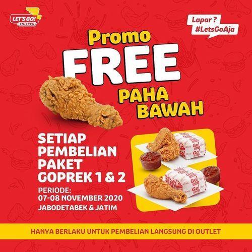 Let's Go Chicken Promo Free Paha Bawah (28954457) di Kota Jakarta Selatan