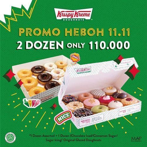 Krispy Kreme Promo Heboh 11.11 2 Dozen Only 110.000 (28962807) di Kota Jakarta Selatan