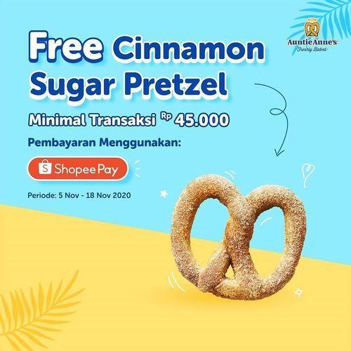 Auntie Anne's Free Cinnamon Sugar Pretzel (28962874) di Kota Jakarta Selatan