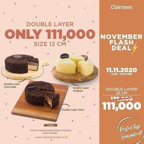 Clairmont Double Layer Only 111.000 (28963664) di Kota Jakarta Selatan