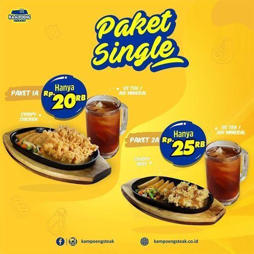 Kampoeng Steak Promo Paket Single (28999877) di Kota Jakarta Selatan