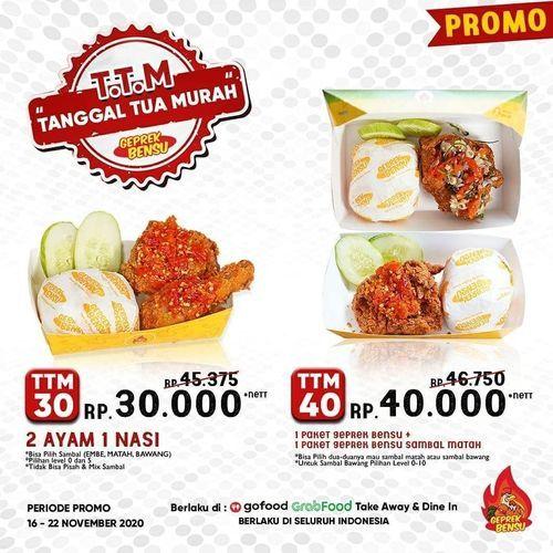 Geprek Bensu Promo TTM 30.000 Net (29005940) di Kota Jakarta Selatan