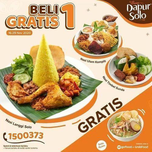 Dapur Solo Promo Beli 1 Gratis 1 (29015547) di Kota Jakarta Selatan