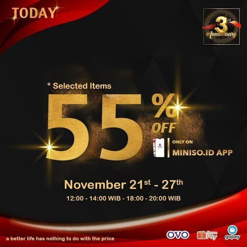 Miniso Disc. Up To 50% (29018645) di Kota Jakarta Selatan