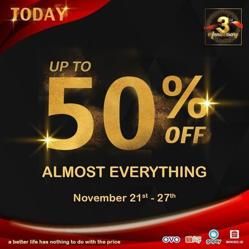 Miniso Disc. Up To 50% (29018646) di Kota Jakarta Selatan