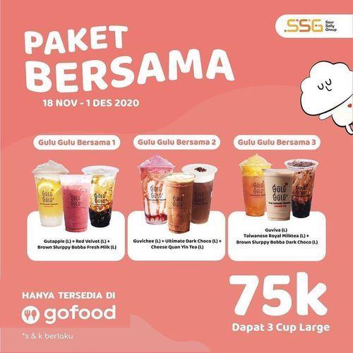 Gulu Gulu Cheese Tea Promo Paket Bersama Gofood (29018648) di Kota Jakarta Selatan