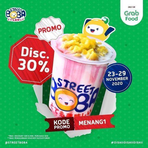 Street Boba Disc. 30% Grabfood (29019348) di Kota Jakarta Selatan