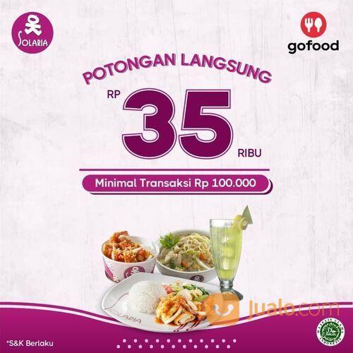 Solaria Nikmati diskon 35rb untuk pesananmu melalui aplikasi GoFood minimal transaksi 100rb (29023696) di Kota Jakarta Selatan