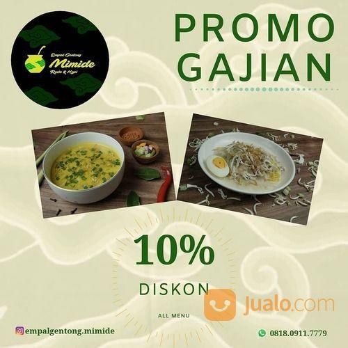 Empal Gentong Mimide Bekasi punya Promo Gajian looh! DISKON 10% ALL MENU! (29023841) di Kota Jakarta Selatan