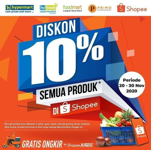 Hypermart Diskon 10% Semua Produk (29023923) di Kota Jakarta Selatan