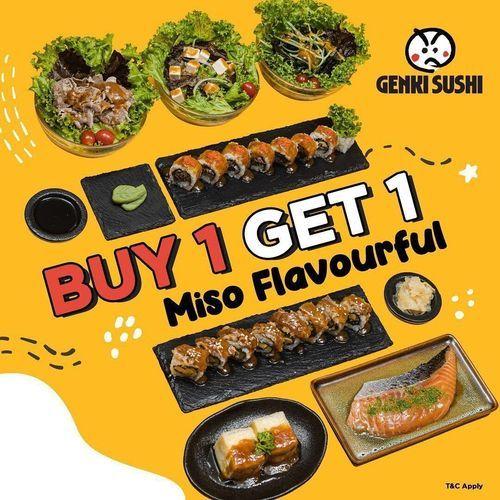Genki Sushi Promo Buy 1 Get 1 Miso Flavourful (29034919) di Kota Jakarta Selatan