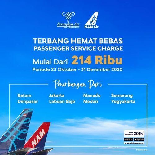 Sriwijaya Air Promo Terbang Hebat Bebas Passenger Service Charge (29043832) di Kota Jakarta Selatan