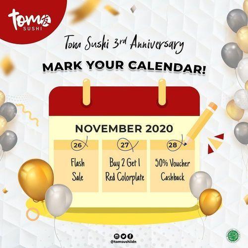 Tom Sushi Promo 3rd Anniversary (29046150) di Kota Jakarta Selatan