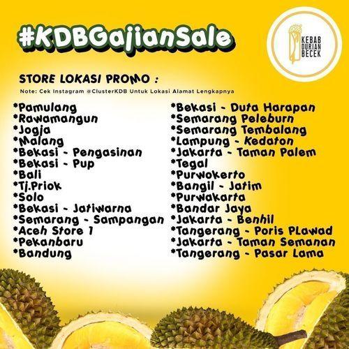 Kebab Durian Becek Prmo Buy 2 Get 1 Free (29046155) di Kota Jakarta Selatan