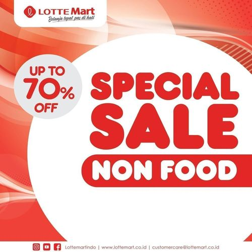 Lotte Mart Special Sale Non Food Up To 70% Special Price (29053377) di Kota Jakarta Selatan
