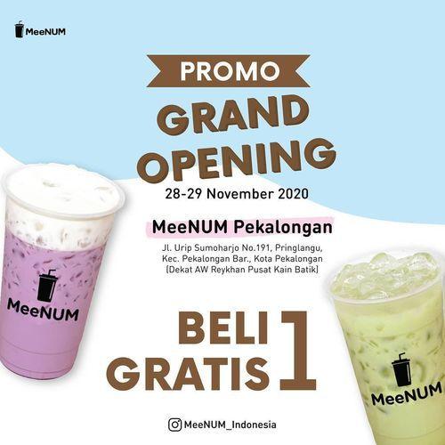 MeeNUM Promo Grand Opening Beli 1 Gratis 1 (29053395) di Kota Jakarta Selatan