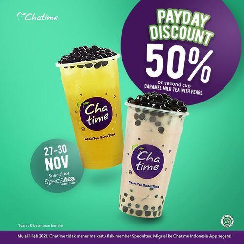 Chatime Payday Discount 50% (29055568) di Kota Jakarta Selatan