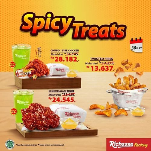 Richeese Factory Promo Spicy Treats Combo (29055657) di Kota Jakarta Selatan