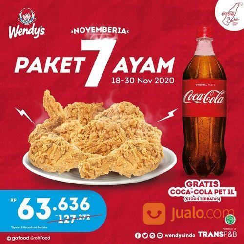 Wendy's Paket 7 Ayam GRATIS Coca Cola 1LTR (29055826) di Kota Jakarta Selatan