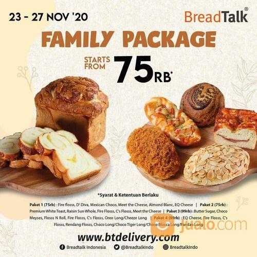 BreadTalk FAMILY PACKAGE STARTS FROM 75RB*! (29055982) di Kota Jakarta Selatan