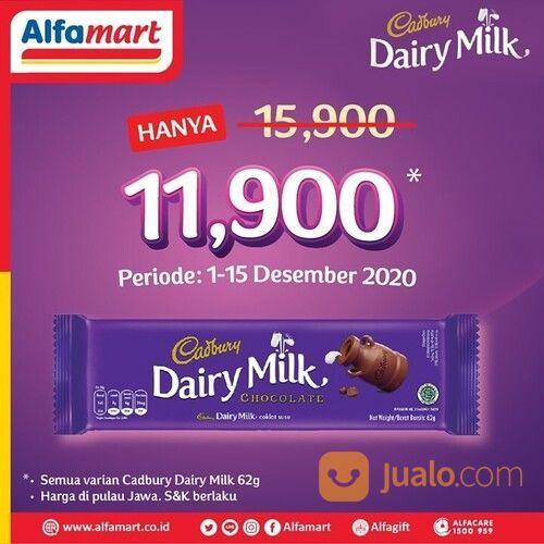 Promo Spesial nih dari Cadbury! Cadbury Dairy Milk 62g hanya Rp 11.900 di #Alfamart (29075952) di Kota Jakarta Selatan