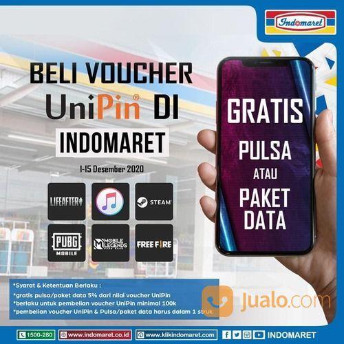 Indomaret Promo Beli Voucher UniPin di Indomaret dapatkan GRATIS pulsa/paket data (29076058) di Kota Jakarta Selatan