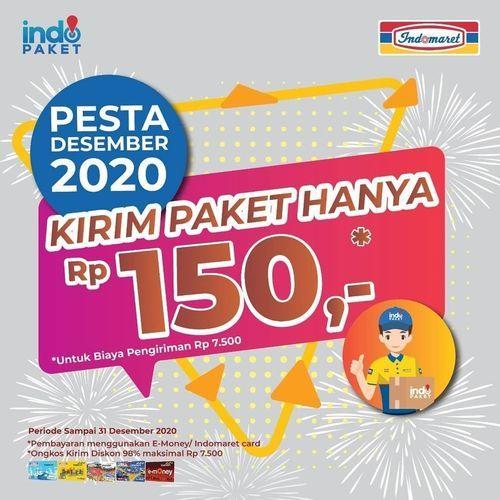 Indomaret Kirim Paket Hanya Rp150,- untuk kalian semua dengan transaksi pengiriman Rp7.500* (29076067) di Kota Jakarta Selatan