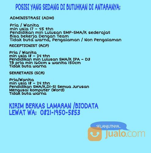 Info Loker Lowongan Kerja Jakarta Barat Jualo