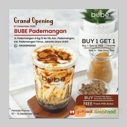 Bube GRAND OPENING BUBE PADEMANGAN Buy 1 Get 1 (29130156) di Kota Jakarta Selatan