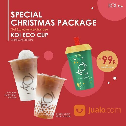 KOI Bubbling Christmas with Special Christmas Package Get exclusive Christmas Edition (29130309) di Kota Jakarta Selatan