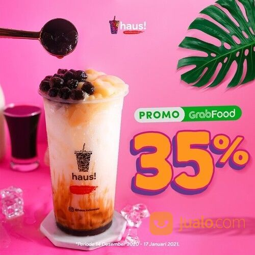 HAUS! Diskon 35% maksimal 30ribu dengan minimal belanja 40ribu di Grabfood (29130929) di Kota Jakarta Selatan