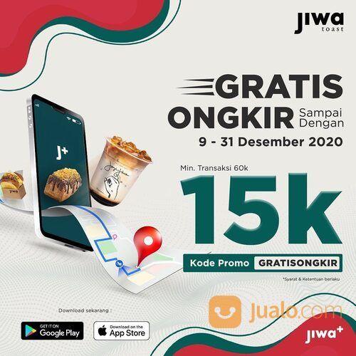 Jiwa Toast GRATIS ONGKIR SETIAP PEMESANAN #JIWATOAST Menggunakan Aplikasi Jiwa+ (29132826) di Kota Jakarta Selatan