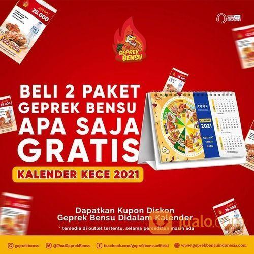 Geprek Bensu Beli 2 Paket Geprek Bensu apa saja, dapatkan Kalender 2021 yang kece banget GRATIS (29133997) di Kota Jakarta Selatan