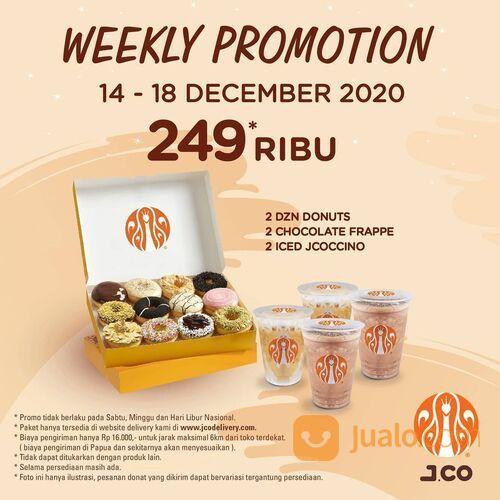 JCO DONUTS + 2 Chocolate Frappe + 2 Iced Jcocinno Weekly Promotion (29134053) di Kota Jakarta Selatan