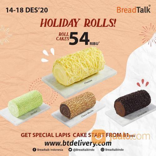 BreadTalk Holiday Rolls from BreadTalk ! Long Cakes only 54rb* (29134164) di Kota Jakarta Selatan