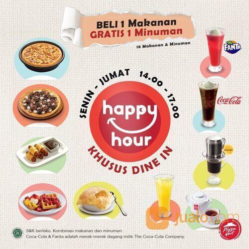 Pizza Hut HappyHour Beli 1 makanan GRATIS 1 minuman lho! (29135830) di Kota Jakarta Selatan