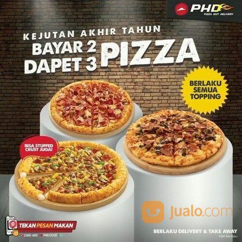 PHD Beli 3 Pizza Topping apa saja bayarnya cuma 2! Berlaku juga untuk pinggiran Stuffed Crust lagi! (29135882) di Kota Jakarta Selatan