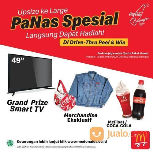McDonald's Promo Pesan PaNas Spesial, Large di Drive Thru McD dapat TV? (29138185) di Kota Jakarta Selatan