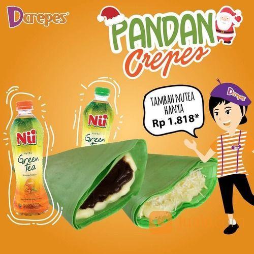 D'Crepes Pandan Series Promo hanya tambah Rp.1.818 kamu bisa dapatkan Nu tea loh (29138226) di Kota Jakarta Selatan