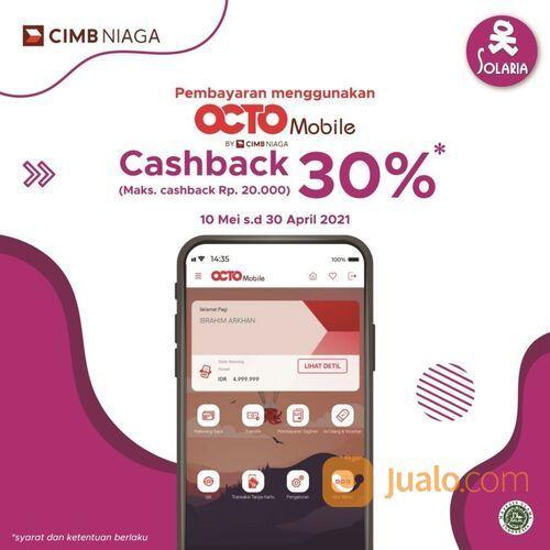 Solaria Cashback 30% dengan transaksi menggunakan Octo Go Mobile CIMB Niaga di Solaria (29138239) di Kota Jakarta Selatan