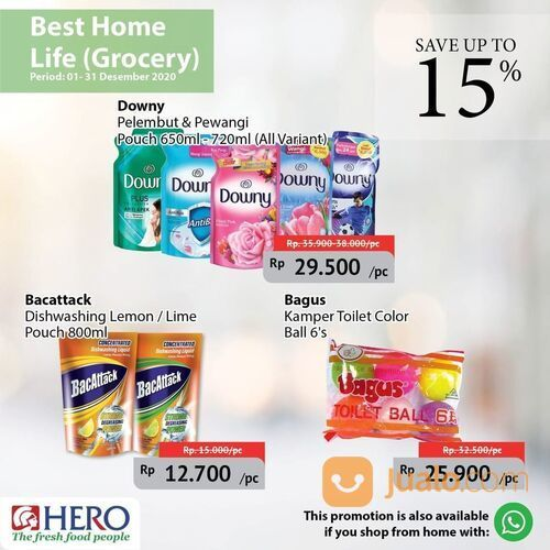 Hero Supermarket Promo Best Home Life Grocery Save up to 15% (29138499) di Kota Jakarta Selatan