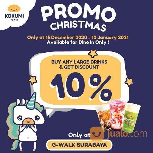 Kokumi Promo Christmas Dapatkan diskon 10% untuk setiap pembelian minuman apa saja berukuran Large (29162532) di Kota Jakarta Selatan
