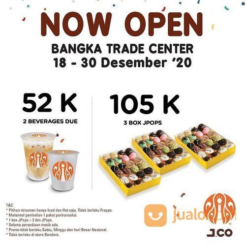 J.Co Now Open Bangka Trade Center (29162720) di Kota Jakarta Selatan