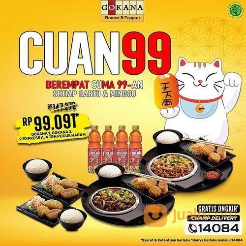 Gokana CUAN lagi di weekend ini dengan promo CUma 99rb-AN berempat! (29163158) di Kota Jakarta Selatan