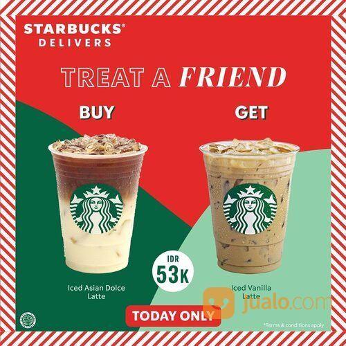 Starbucks Beli 1 gratis 1* minuman tertentu spesial untukmu yang #DiRumahAja ! (29168232) di Kota Jakarta Selatan