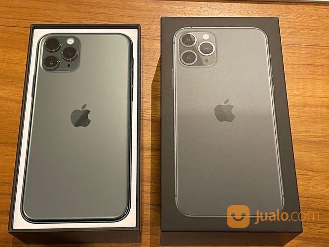 IPhone 11 Pro 256GB (Midnight Green) 100% Mulus + Apple Leather Case + Leather Sleeve (29188660) di Kota Jakarta Barat