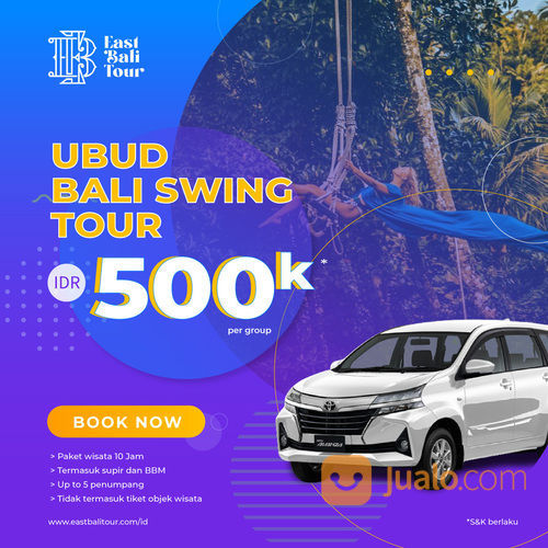 Tour Harian Keliling Ubud Dan Bali Swing (29202300) di Kab. Badung