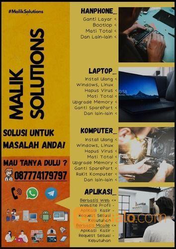 Service Komputer, Laptop, Dan Pembuatan Aplikasi Berbasis Web, IOS, Android. (29210044) di Kota Tangerang Selatan