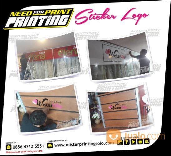 Pusat Percetakan Sticker Logo Stiker Cutting Kaca Film Rumah Cafe Resto Salon Kantor Gedung Termurah (29213234) di Kota Surakarta